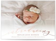 Treasured Foil-Pressed Birth Announcement Petite Cards