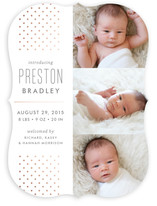 Cascade Foil-Pressed Birth Announcements