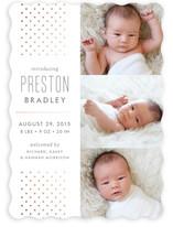 Cascade Foil-Pressed Birth Announcements