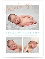 No Fuss Foil-Pressed Birth Announcements