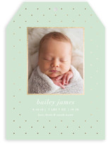 Lustre Foil-Pressed Birth Announcements