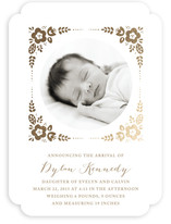 Morning Glory Foil-Pressed Birth Announcements