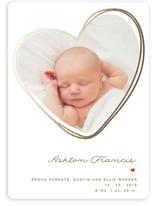 Heartwarming Foil-Pressed Birth Announcements