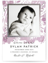 Baby Blossom Foil-Pressed Birth Announcements