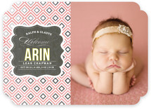 Vintage Paper Foil-Pressed Birth Announcements