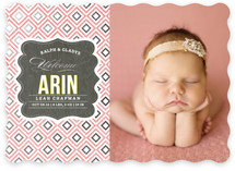 Vintage Paper Foil-Pressed Birth Announcements