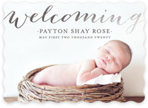 Welcoming Birth Foil-Pressed Birth Announcements