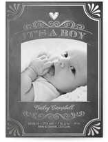 It's a Boy Vintage Chalkboard Foil-Pressed Birth Announcement Cards