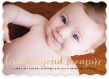 Numbers Game Foil-Pressed Birth Announcements