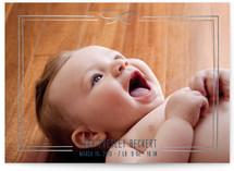 Little Bow Birth Foil-Pressed Birth Announcements