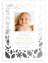 Petite Jungle Frame Foil-Pressed Birth Announcements