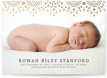So Delicate Foil-Pressed Birth Announcement Cards