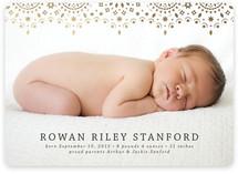 So Delicate Foil-Pressed Birth Announcements