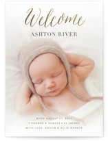 Angelic Welcome Foil-Pressed Birth Announcement Cards