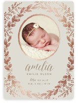 Gilded Garden Foil-Pressed Birth Announcements