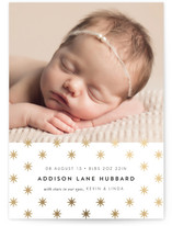 Star Foil-Pressed Birth Announcement Cards