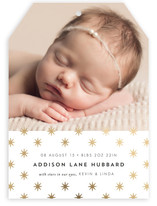 Star Foil-Pressed Birth Announcements