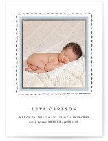 Delicate Frame Foil-Pressed Birth Announcement Cards