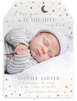 Love you to the Moon and Back Foil-Pressed Birth Announcements