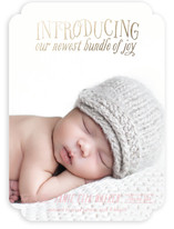 Introducing Foil-Pressed Birth Announcements