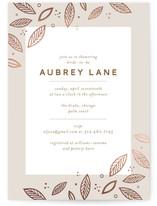 Blush Foil-Pressed Bridal Shower Invitations