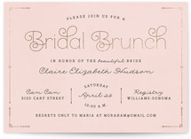 Blushing Brunch Foil-Pressed Bridal Shower Invitations