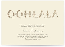 Ohlala Chic Foil-Pressed Bridal Shower Invitations