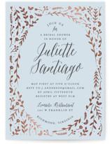 Garden Romance Foil-Pressed Bridal Shower Invitations