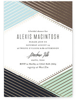 Overlap Foil-Pressed Bridal Shower Invitations