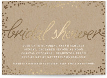 Starlight Foil-Pressed Bridal Shower Invitations