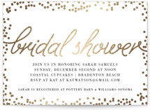 Starlight Foil-Pressed Bridal Shower Invitations
