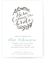 Aisle Foil-Pressed Bridal Shower Invitations