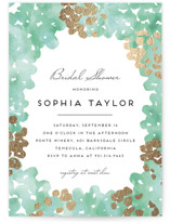 Garden Spring Blossom Foil-Pressed Bridal Shower Invitations