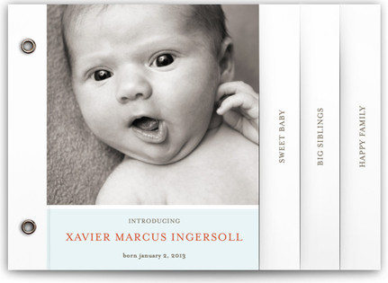 Poetic Birth Announcement Minibooks