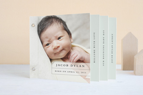 Strongest Bond Birth Announcement Minibook™ Cards