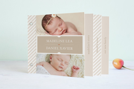 Twin Windows Birth Announcement Minibook™ Cards
