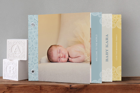 Baby Dots Birth Announcement Minibook™ Cards
