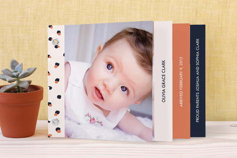 Playful Dot Birth Announcement Minibook™ Cards