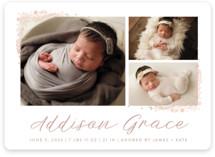 Delicate Collage Foil-Pressed Birth Announcement Magnets