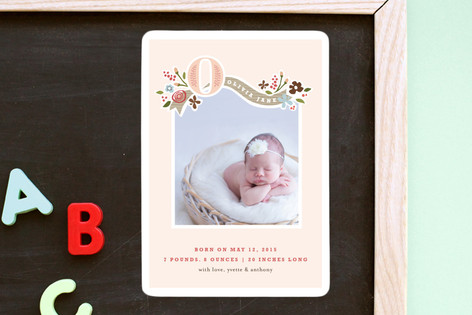 Fairy Tale Beginnings Birth Announcement Magnets