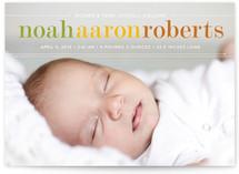 Classy Noah Birth Announcement Postcards