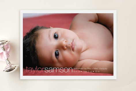 Taylor Birth Announcement Postcards