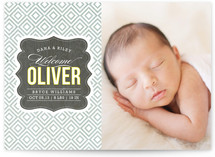 Vintage Paper Birth Annoucement Postcards