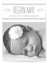 Curlicues Birth Annoucement Postcards
