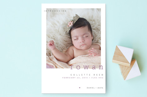 Innocent Birth Announcement Postcards