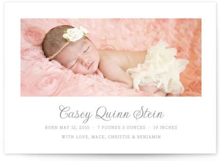 Pure Birth Announcement Postcards