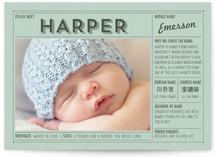 Vintage Name Grid Birth Annoucement Postcards
