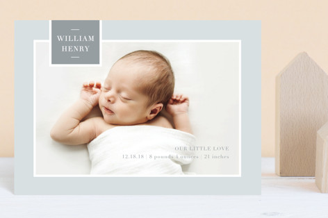 Tag Love Birth Announcement Postcards