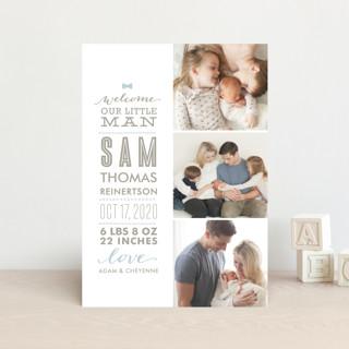 Little Man Birth Announcement Postcards
