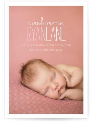 Devon Birth Announcement Postcards